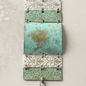 Anthropologie Patchwork Artifact Cuff Bracelet